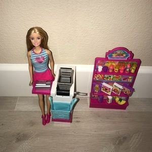 Barbie grocery store set